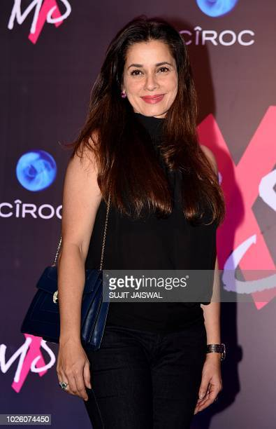 Indian Bollywood actress Neelam poses during the store launch of the fashion label MXS in Mumbai on September 1 2018