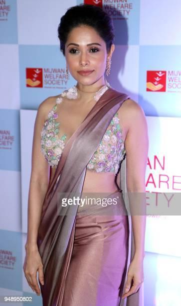 Indian Bollywood actress Nushrat Bharucha attends the Mijwan Welfare Society fundraiser fashion show in Mumbai on April 19 2018