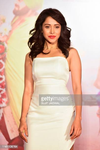 Indian Bollywood actress Nushrat Bharucha poses during the trailer launch of the upcoming Hindi film 'Dream Girl' in Mumbai on August 12 2019