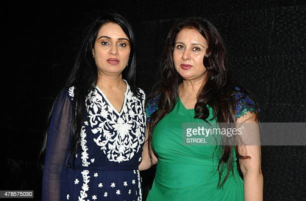 Indian Bollywood actress Padmini Kolhapur poses for a photograph during a event held by the MADDAD The Helping Hand NGO and Bollywood actress Poonam...
