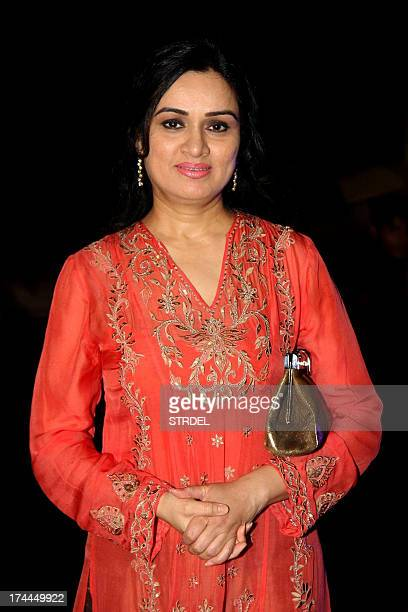 Indian Bollywood actress Padmini Kolhapure attends the premiere of Hindi film 'Issaq' in Mumbai on July 25 2013 AFP PHOTO/STR