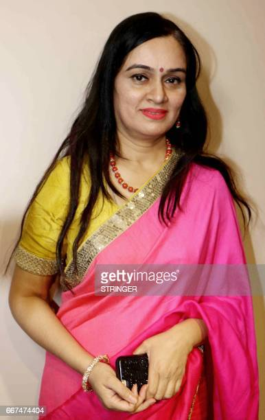 Indian Bollywood actress Padmini Kolhapure poses for a photograph during a promotional event in Mumbai on late April 11 2017 / AFP PHOTO / STRINGER