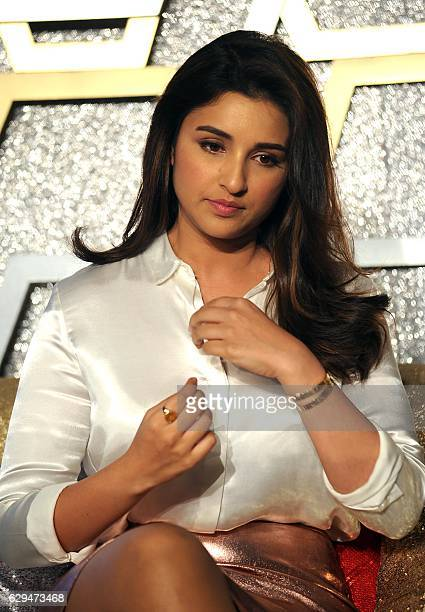Indian Bollywood actress Parineeti Chopra attends a promotional event in Mumbai on December 13 2016 / AFP /