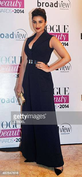 Indian Bollywood actress Parineeti Chopra attends the 2014 Vogue Beauty Awards in Mumbai on July 22 2014 AFP PHOTO/STR