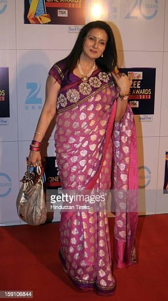 Indian bollywood actress Poonam Dhillon attending Zee Cine Awards 2013 at Yash Raj Studio on January 6 2013 in Mumbai India