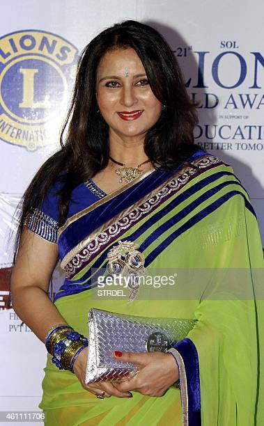 Indian Bollywood actress Poonam Dhillon attends the 21st Lion's Gold Awards ceremony in Mumbai on January 6 2015 AFP PHOTO/STR