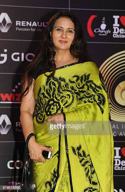Indian Bollywood actress Poonam Dhillon attends the Global Indian Music Academy awards ceremony in Mumbai on April 6 2016 / AFP /
