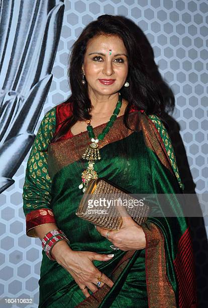 Indian Bollywood actress Poonam Dhillon attends the Global Sounds of Peace concert in Mumbai on January 30 2013 AFP PHOTO/ STR