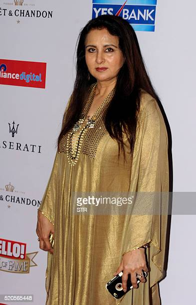 Indian Bollywood actress Poonam Dhillon poses as she attends the Hello Hall of Fame Awards 2016 in Mumbai late April 11 2016 / AFP / STR