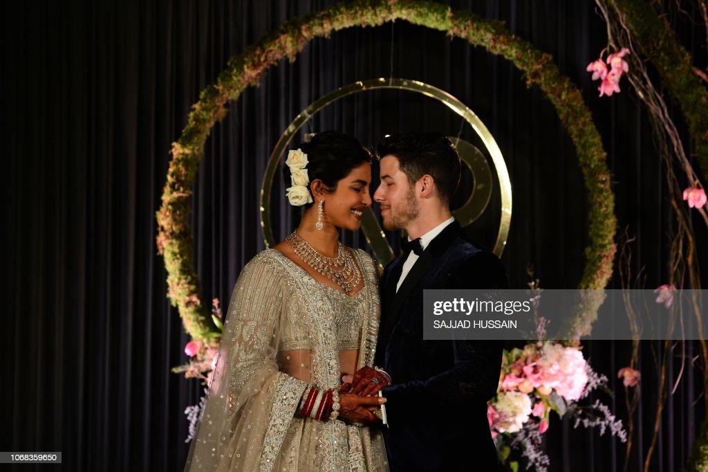 INDIA-US-ENTERTAINMENT-CELEBRITY-WEDDING : News Photo