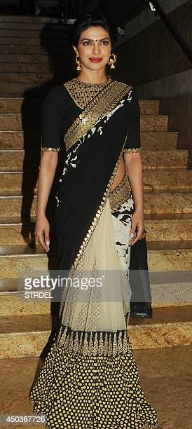Indian Bollywood actress Priyanka Chopra attends the launch for the autobiography of veteran Bollywood actor Dilip Kumar in Mumbai on June 9 2014 AFP...