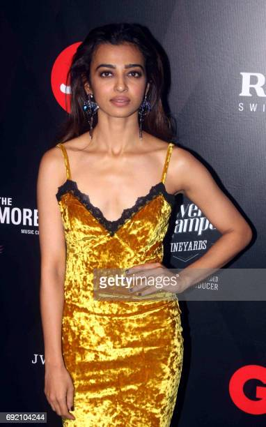 Indian Bollywood actress Radhika Apte attends GQ Indias Best Dressed Men of 2017 event in Mumbai on June 3 2017 / AFP PHOTO /