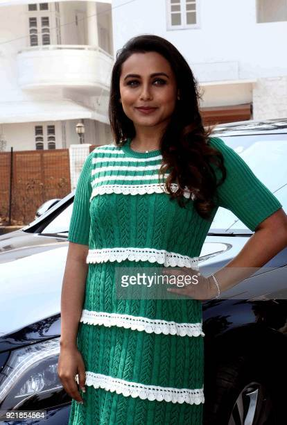 Indian Bollywood actress Rani Mukharjee attends a promotional event for her upcoming Hindi film 'Hichki' in Mumbai on February 20 2018 / AFP PHOTO /