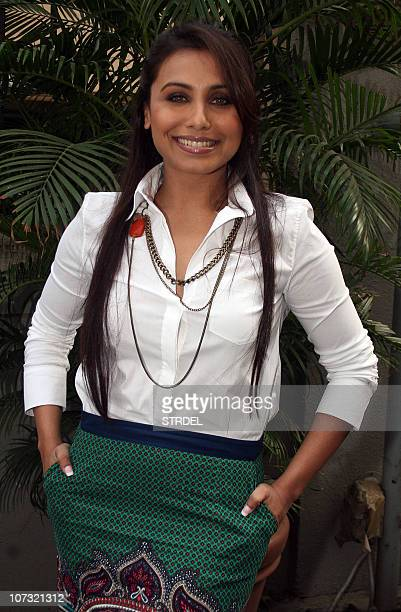 Indian Bollywood actress Rani Mukherjee poses at the launch of the Hindi film �No One Killed Jessica�� in Mumbai late December 3 2010 AFP PHOTO/STR