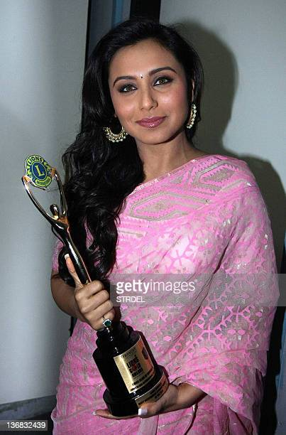 Indian Bollywood actress Rani Mukherjee poses during the Lions Gold Awards ceremony in Mumbai on January 11 2012 AFP PHOTO/STR