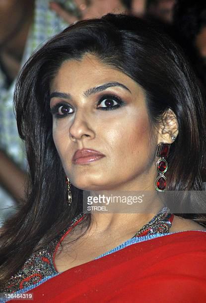 Indian Bollywood actress Raveena Tondon poses during a product launch in Mumbai on January 5 2012 AFP PHOTO/STR