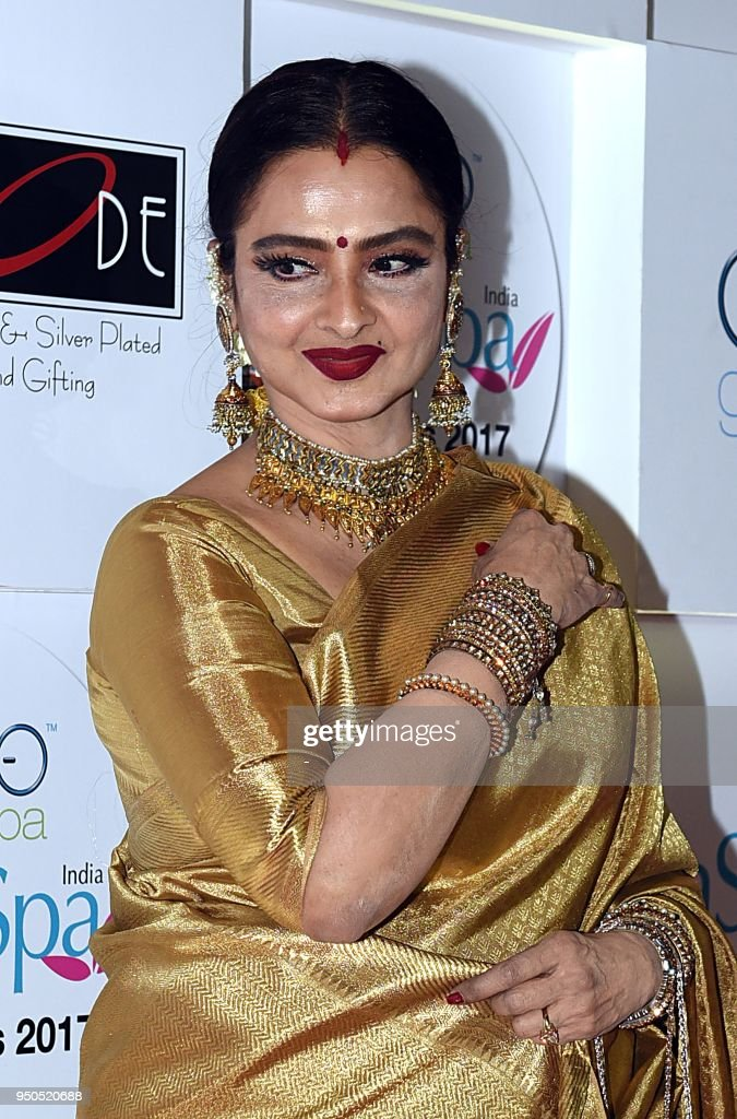 Indian Bollywood Actress Rekha Attends The Geospa Asiaspa -4867