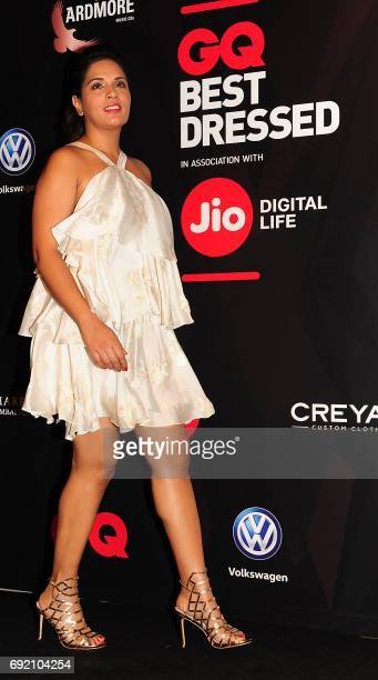 Indian Bollywood actress Richa Chadda attends GQ Indias Best Dressed Men of 2017 event in Mumbai on June 3 2017 / AFP PHOTO /