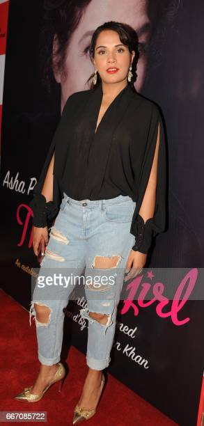 Indian Bollywood actress Richa Chadda attends the launch of veteran actress director and producer Asha Parekh's autobiography 'The Hit Girl' in...