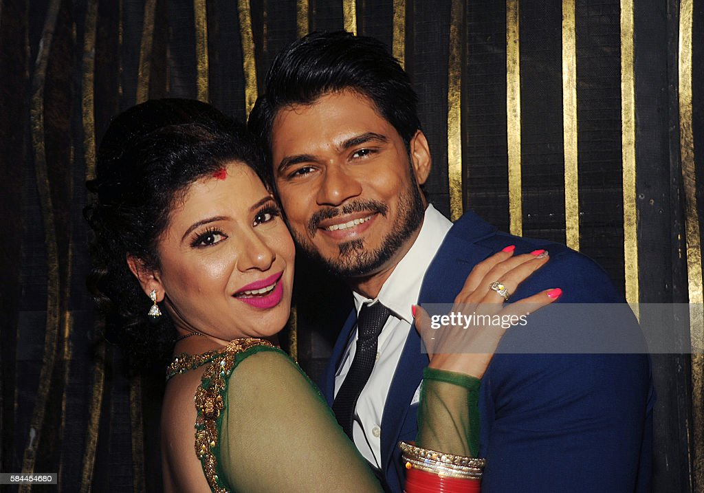 Indian Bollywood Actress Sambhavna Seth L And Her Husband Avinash Dwivedi R