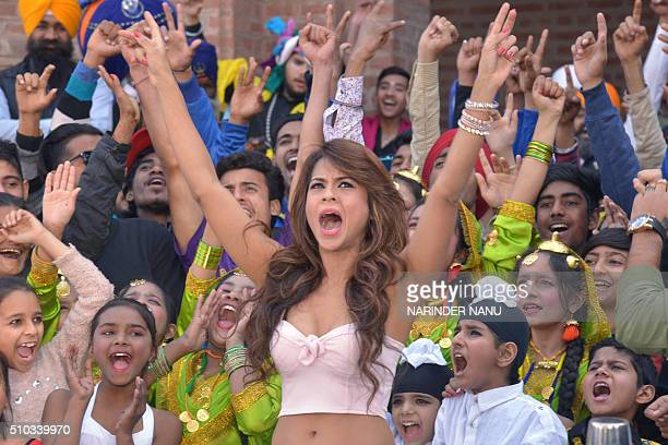 Indian Bollywood actress Sana Saeed attends an 'India's Got Talent' auditions at a college in Amritsar on February 14 2016 AFP PHOTO/NARINDER NANU /...