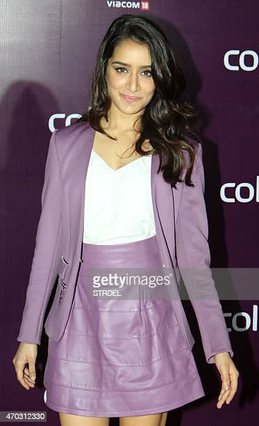Indian Bollywood actress Shraddha Kapoor poses for a photograph during a promotional event in Mumbai on late April 18 2015 AFP PHOTO / STR