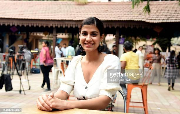 Indian Bollywood actress Shreya Dhanwanthary poses during the promotion of the upcoming comedy drama Hindi film 'Why Cheat India' at visit Carnival...