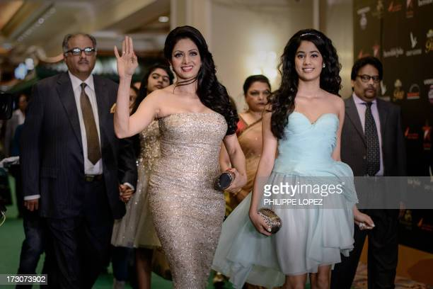 Indian Bollywood actress Sridevi Kapoor arrives for the 14th International Indian Film Academy in Macau on July 6 2013 The annual IIFA Awards India's...