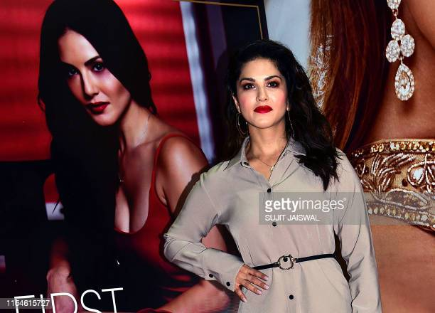 Indian Bollywood actress Sunny Leone during the launch of India Licensing Expo 2019, new fashion brand in Mumbai on July 8. 2019.