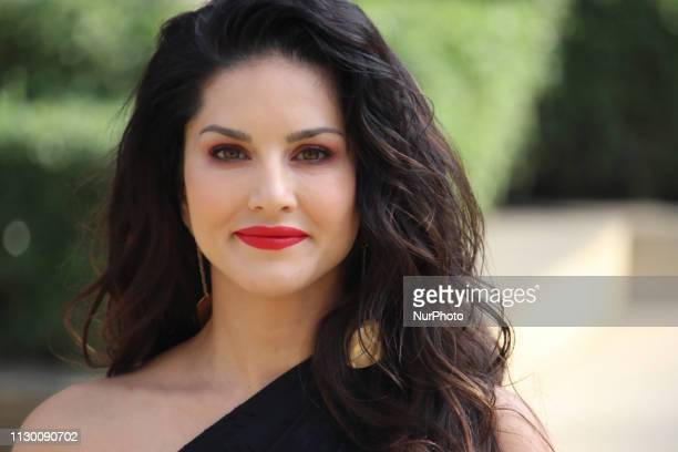Indian Bollywood actress Sunny Leone poses as she promotes India`s online gaming platform 11Wicketscom in Mumbai India on 12 March 2019 11Wicketscom...