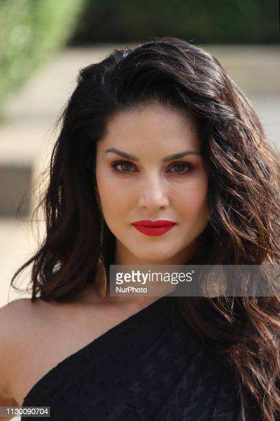 Indian Bollywood actress Sunny Leone poses as she promotes India`s online gaming platform, 11Wickets.com in Mumbai, India on 12 March 2019....