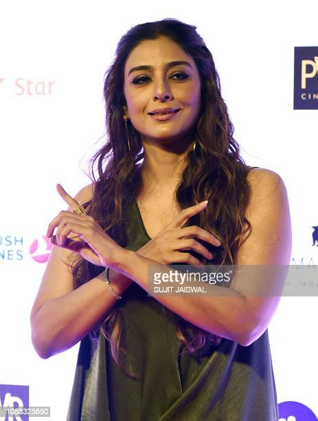Indian Bollywood actress Tabu attends the opening ceremony of the Jio MAMI 20th Mumbai Film Festival 2018 in Mumbai on October 25 2018