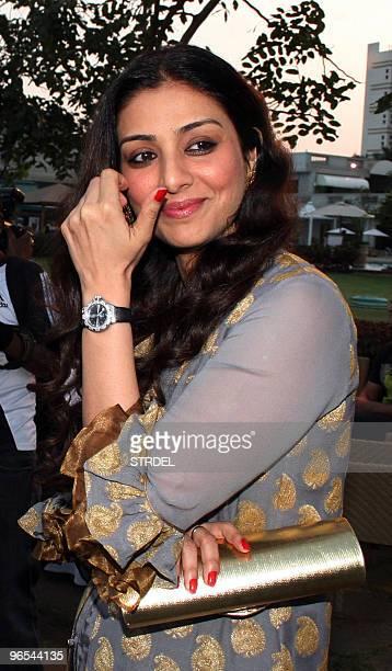Indian Bollywood actress Tabu gestures as she launches the book �Kaifi I� an English version of �Yaad Ki Rahguzar� written by Shaukat Kaifi in Mumbai...