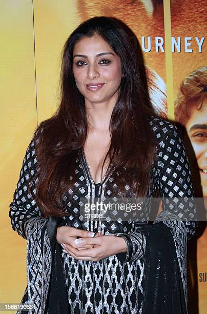 Indian Bollywood actress Tabu poses as she attends a special screening of the film 'Life of Pi in Mumbai late November 21 2012 AFP PHOTO/STR
