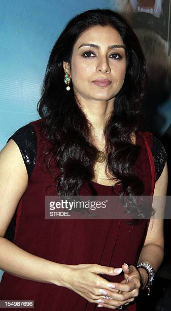 """Indian Bollywood actress Tabu poses during a promotional event for the forthcoming English film """"Life of Pi"""" directed by Hollywood Oscarwinner Ang..."""