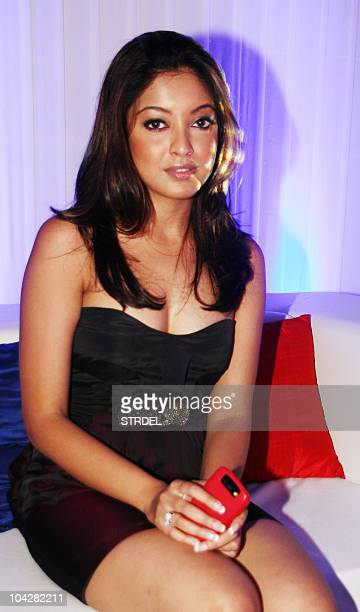 Indian Bollywood actress Tanushree Dutta attends an event during Lakme Fashion Week Winter/Festive 2010 in Mumbai on September 19 2010 In its 11th...