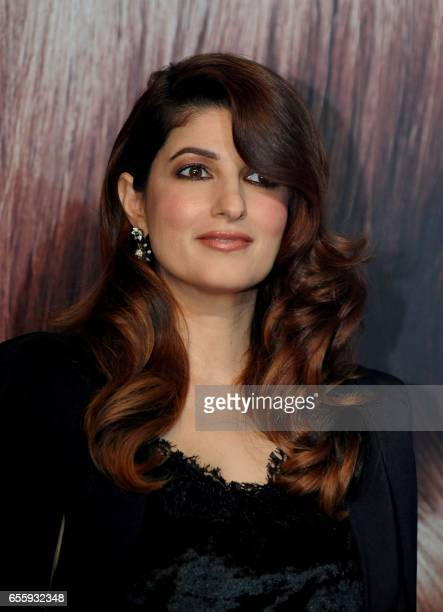Indian Bollywood actress Twinkle Khanna attends a promotional event for a skin care brand in Mumbai on March 21 2017 / AFP PHOTO /