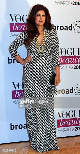 Indian Bollywood actress Twinkle Khanna attends the 2014 Vogue Beauty Awards in Mumbai on July 22 2014 AFP PHOTO/STR