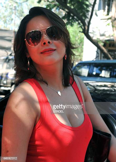 Indian Bollywood actress Udita Goswami attends a soundtrack launch event for the forthcoming Hindi Film Aashiqui 2 in Mumbai on April 8 2013 AFP PHOTO
