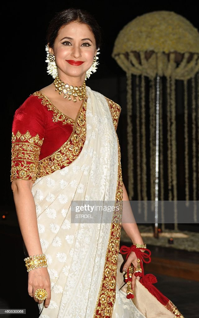 Indian Bollywood Actress Urmila Matondkar Attends The Wedding Reception Of Film Director Punit Malhotra And