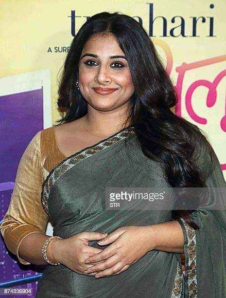 Indian Bollywood actress Vidya Balan attends the special screening of the comedydrama Hindi film 'Tumhari Sulu' in Mumbai on November 14 2017 / AFP...
