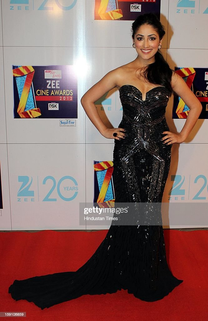 Indian bollywood actress Yami Gautam attending Zee Cine Awards 2013 at Yash Raj Studio on January 6, 2013 in Mumbai, India.