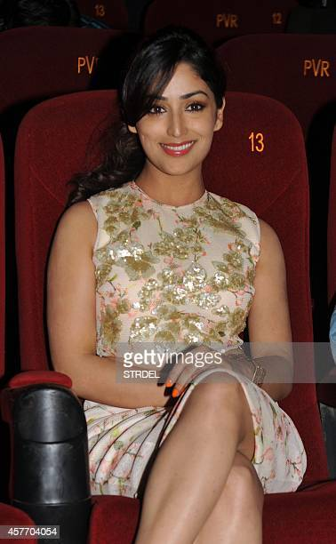 Indian Bollywood actress Yami Gautam attends a promotional event for the Hindi film Action Jackson in Mumbai on October 22 2014 AFP PHOTO/STR