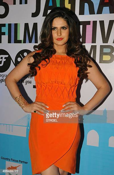 Indian Bollywood actress Zarine Khan attends the opening ceremony of the 5th Jagran Film Festival in Mumbai on September 14 2014 AFP PHOTO/STR
