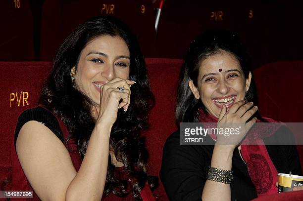 """Indian Bollywood actresses Tabu and Manisha Koirala pose during a promotional event for the forthcoming English film """"Life of Pi"""" directed by..."""