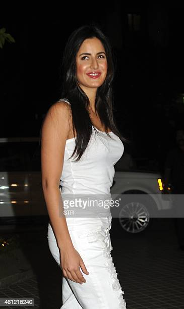Indian Bollywood film actor Katrina Kaif attends the 50th birthday party of Bollywood film director choreographer producer and actress Farah Khan at...