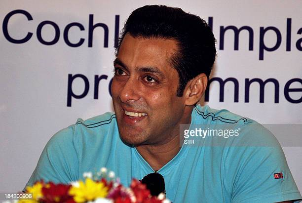 Indian Bollywood film actor Salman Khan attends the second anniversary celebration of Cochlear Implants Facility for Underprivileged Children at the...