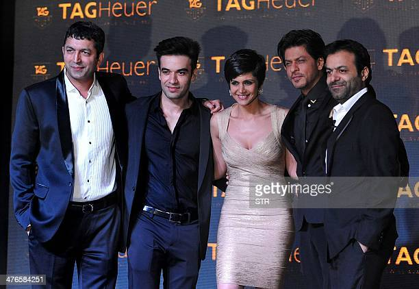 Indian Bollywood film actor Shah Rukh Khan the Brand Ambassador for TAG Heuer Bollywood film directors Tarun Mansukhani Punit Malhotra and Kunal...