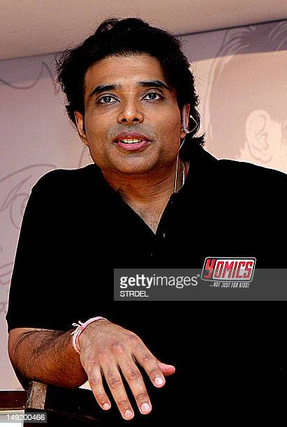 Indian Bollywood film actor Uday Chopra poses during the unveiling of 'Yomics' at YFR Studio in Mumbai on July 24 2012 AFP PHOTO