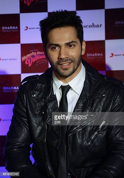 Indian Bollywood film actor Varun Dhawan poses during the song launch of the Hindi film 'Humpty Sharma Ki Dulhania' in Mumbai on July 2 2014 AFP PHOTO